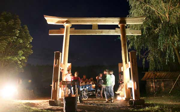 The completed torii