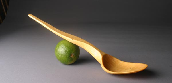 Birch serving spoon.