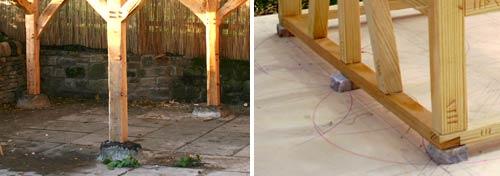 Pavilion stone piers
