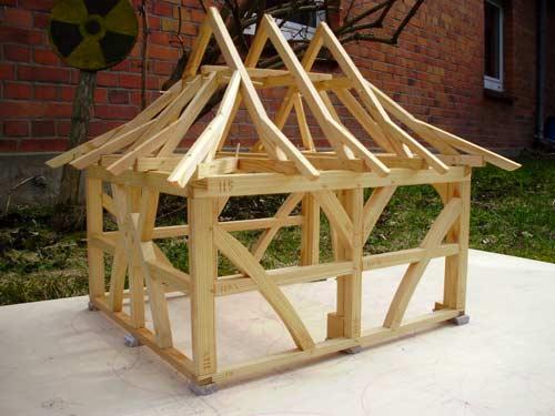 Completed pavilion model
