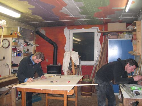 Hannes and Markus at work